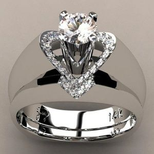 Silver Plated Love Heart Shaped Ring